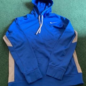 Men's blue and grey therma fit hoodie